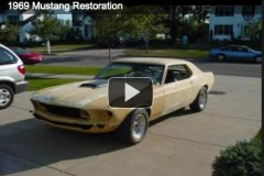 Ford Mustang Coupe, 1969 (Restoration video)